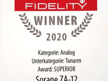 AWARD Fidelity Magazin für den SORANE ZA-12 Tonarm