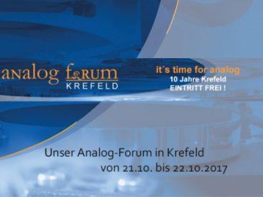 Analog Forum Krefeld – 21.-22. Oktober 2017