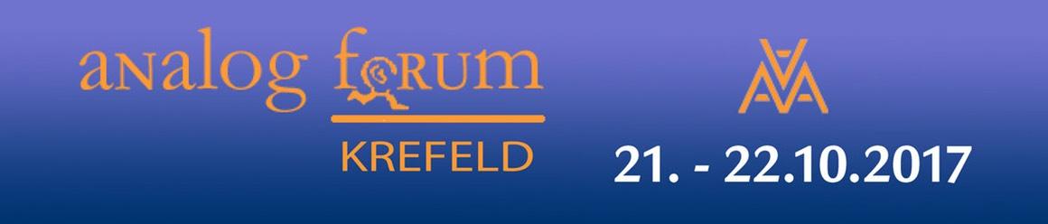 Analog Forum Krefeld - 21.-22. Oktober 2017